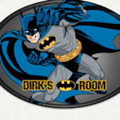 Batman Room Name Wall Decal