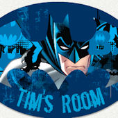 Batman Wings Name Wall Decal