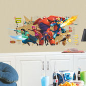 Big Hero 6 Giant Peel and Stick Decal