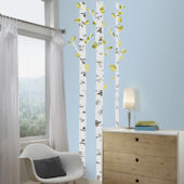 Birch Trees Giant Wall Decals
