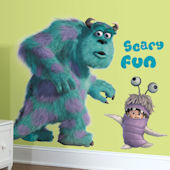 Monsters Inc Sully and Boo Peel & Stick Decals