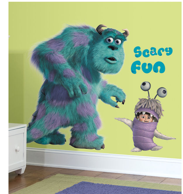 Monsters Inc Sully and Boo Peel & Stick Decals - Wall Sticker Outlet
