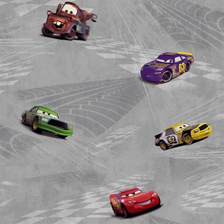 Disney Cars Gray Racing Wallpaper - Wall Sticker Outlet