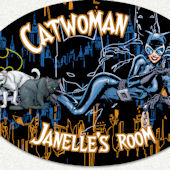 Catwoman Name Wall Decal