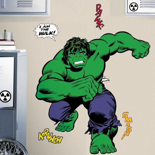 Classic Hulk Giant Wall Decals - Wall Sticker Outlet