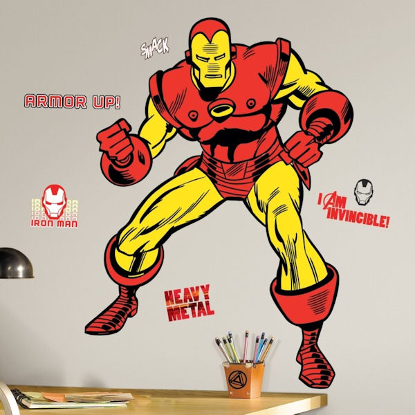 Classic Iron Man Giant Wall Decals - Wall Sticker Outlet