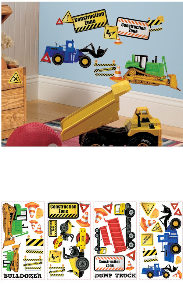Construction Trucks Wall Decals - Wall Sticker Outlet