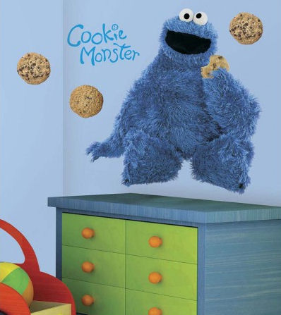 Sesame Street Cookie Monster Giant Wall Sticker - Wall Sticker Outlet