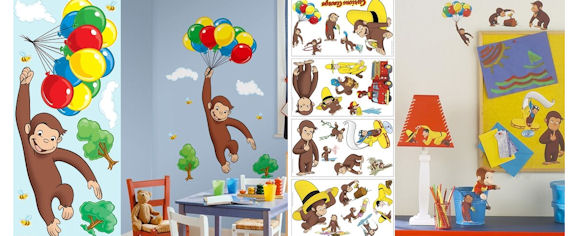 Delightful Curious George Room Package   Wall Sticker Outlet Part 6