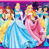 Disney Purple Princess Custom Room Wall Decal