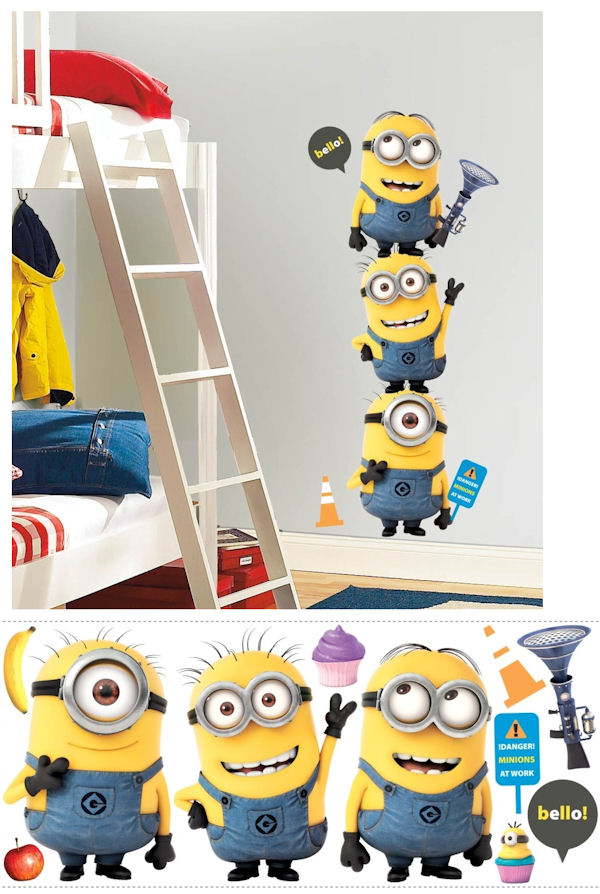 Despicable Me 2 Minions Giant Wall Decals