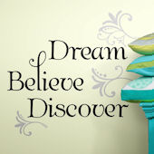 Dream Believe Discover Quote Wall Decals