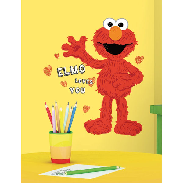 elmo loves you giant wall decals. Black Bedroom Furniture Sets. Home Design Ideas