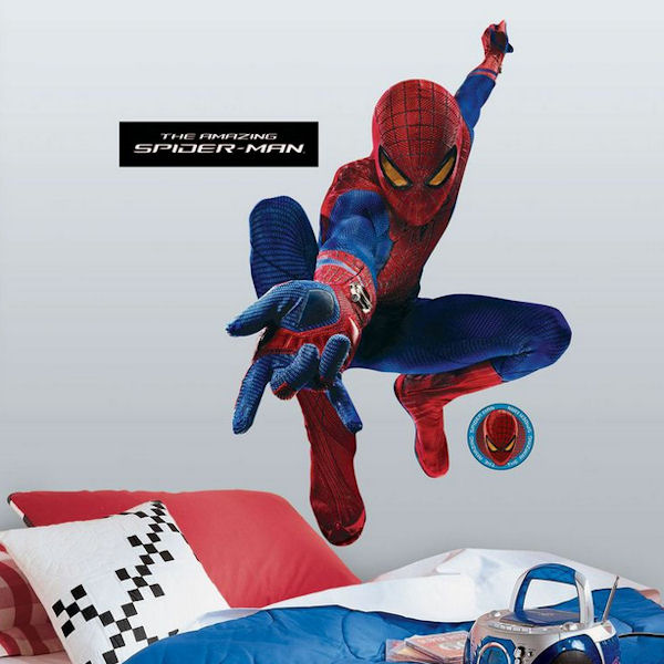 Spiderman Decal For Wall : Amazing Spiderman Web Slinging Giant Wall Decal    Wall Sticker Outlet