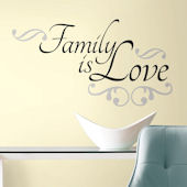 Family Is Love Quote Wall Decals