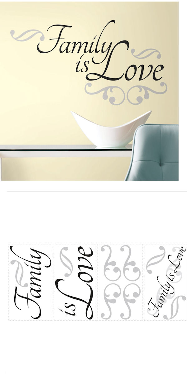 Family Is Love Quote Wall Decals - Wall Sticker Outlet