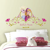 Frozen Springtime Personalized Headboard Decal