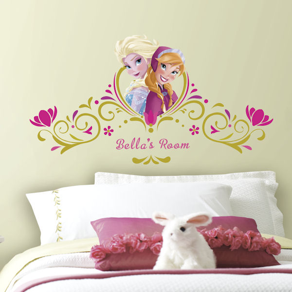Frozen Springtime Personalized Headboard Decal - Wall Sticker Outlet