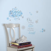 Frozen Let It Go Quotes Wall Decals