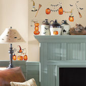 Halloween Pumpkins Wall Stickers