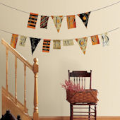Happy Halloween Pennants Wall Stickers