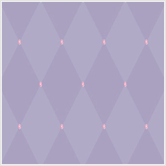 Princess Harlequin Purple with Pink Gem Wallpaper - Wall Sticker Outlet