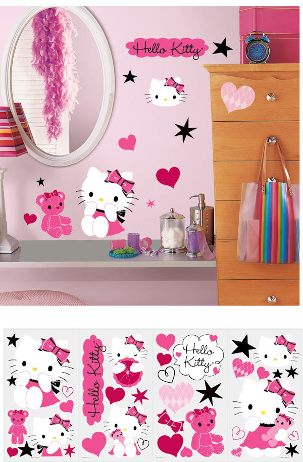 Hello Kitty Couture Wall Decals - Hello kitty wall stickers