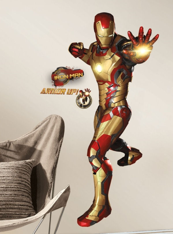 Iron Man 3 Giant Peel And Stick Wall Decals
