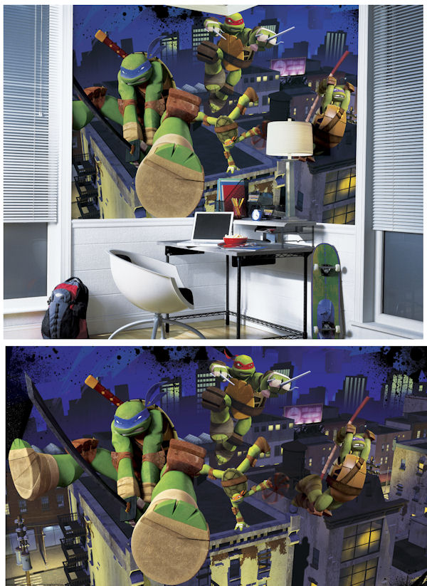 Ninja Turtle Wall Decor teenage mutant ninja turtle xl wall mural