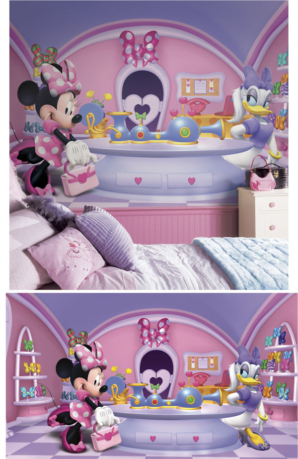 Minnie Mouse Fashionista Xl Wall Mural