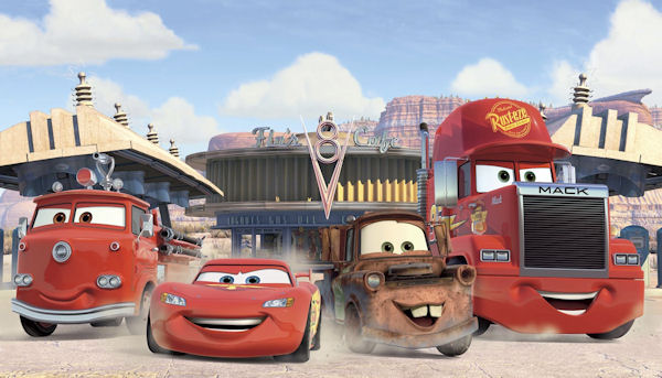 Disney Cars Friends to the Finish XL Wall Mural - Wall Sticker Outlet
