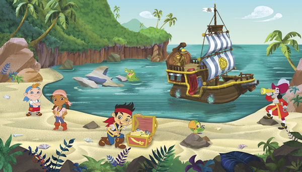 Disney Jake And The Neverland Pirate XL Wall Mural