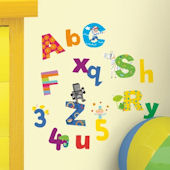Lazoo Alphabet and Numbers Wall Decals