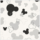 Mickey Mouse Heads White and Black Wallpaper