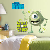 Monsters Inc Mike Wazowski Peel & Stick Decals