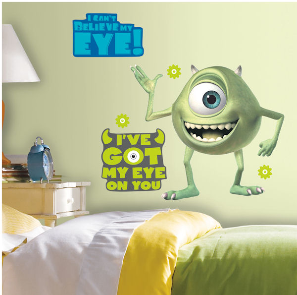 Monsters Inc Mike Wazowski Peel & Stick Decals - Wall Sticker Outlet