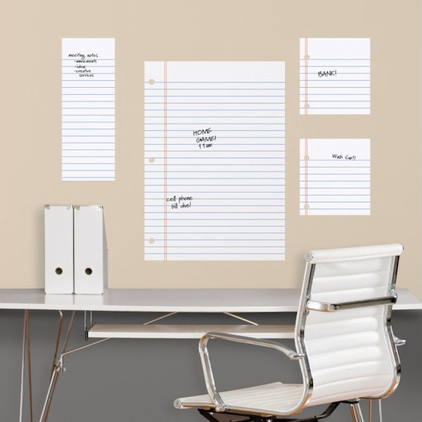 notebook paper dry erase wall decals