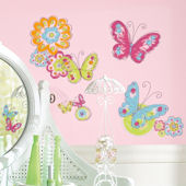 Brushwork Painted Butterfly Wall Decals