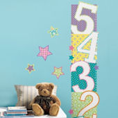Patterned Numbers Growth Chart Wall Decals