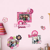 Peace Signs Frames Wall Decals with Glitter