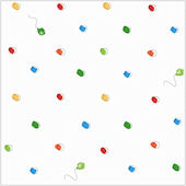 Pooh and Friends Circles Balloons White Wallpaper