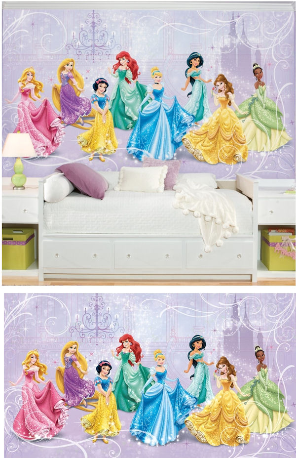 Disney princess royal debut xl mural for Disney princess mural stickers
