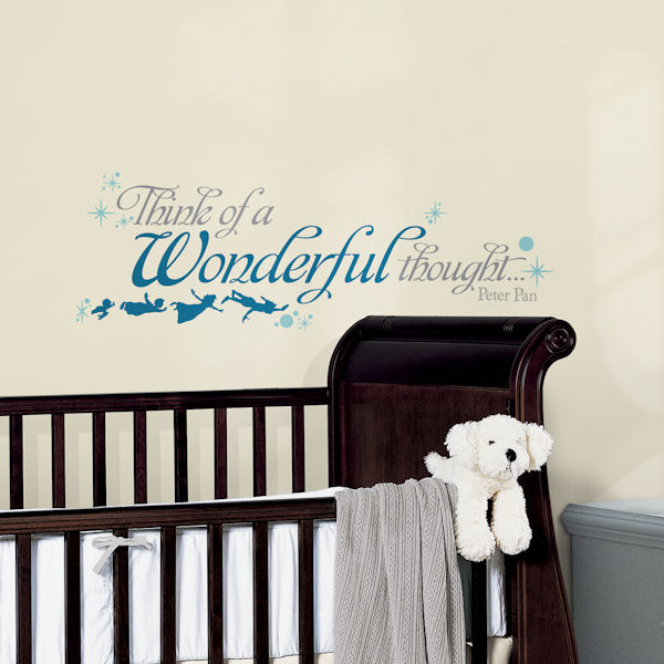 Peter Pan Wonderful Thought Peel and Stick Decals - Wall Sticker Outlet