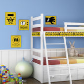 Monsters Inc Caution Signs Giant Wall Decals