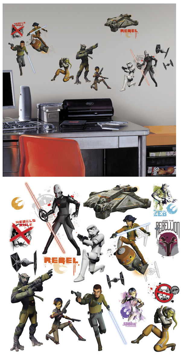 Star Wars Rebels Glow Peel and Stick Decals - Wall Sticker Outlet