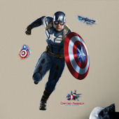 Captain America Peel and Stick Giant Wall Decals