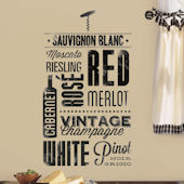 Wine Lovers Peel and Stick Wall Stickers