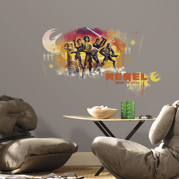 Star Wars Rebels Watercolor Giant Wall Decal  - Wall Sticker Outlet