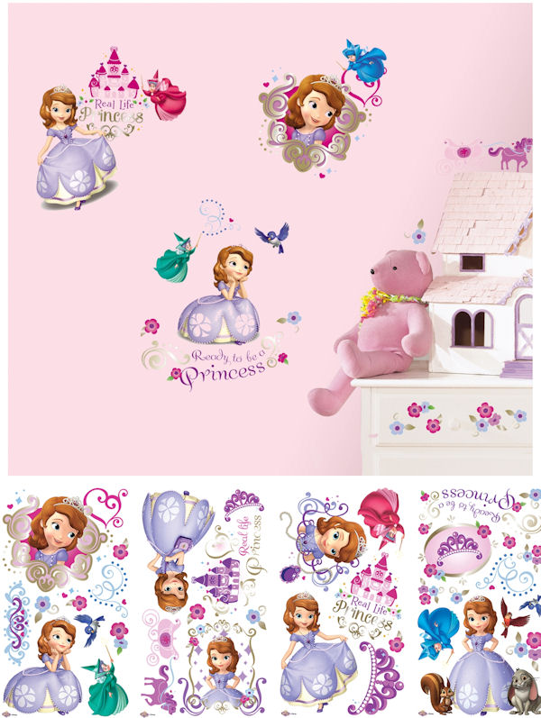 Sofia The First Peel and Stick Decals - Wall Sticker Outlet