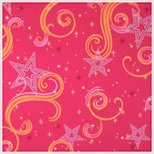 Star Glitter Magenta Orange and Pink Wallpaper